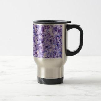 Estilo púrpura de los cristales del diamante del taza de viaje
