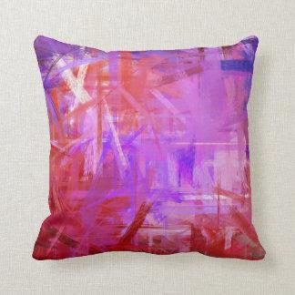 Estilo púrpura rojo de la pintura de la bella arte cojín