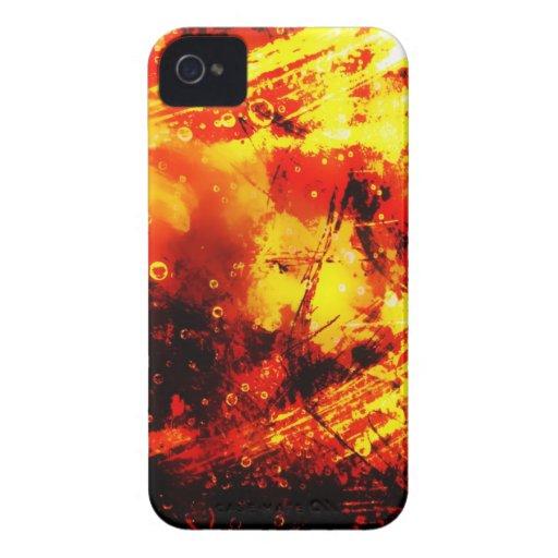 Estilo radial abstracto ligero de oro Ri real del  iPhone 4 Cárcasa
