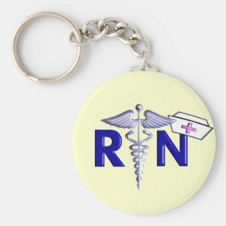 Estilo Regalo-Grabado en relieve del RN (enfermera Llavero Redondo Tipo Pin