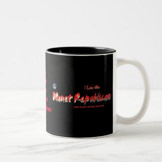 Estilo republicano #2 de la taza del planeta
