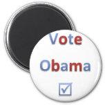 Estilo retro 1 de Obama del voto Imán De Nevera