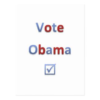 Estilo retro 1 de Obama del voto Postal