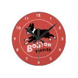 Estilo retro Boston Terrier que salta el perro Relojes