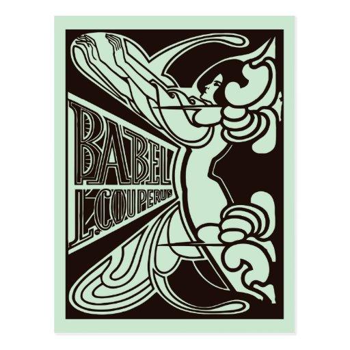 Estilo retro de Babel enero Toorop del nouveau del Tarjetas Postales