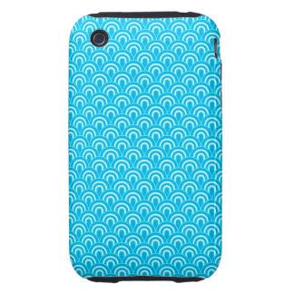 estilo retro de la textura de la tela del caso del tough iPhone 3 carcasas