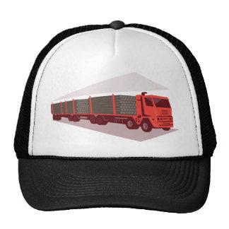 estilo retro de registración del camión y del remo gorras