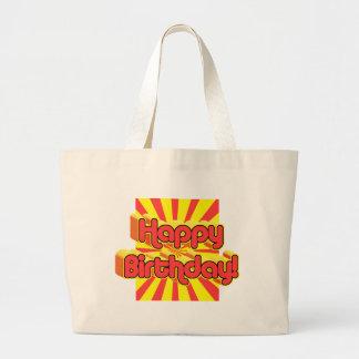 Estilo retro de saludo del cumpleaños bolsa