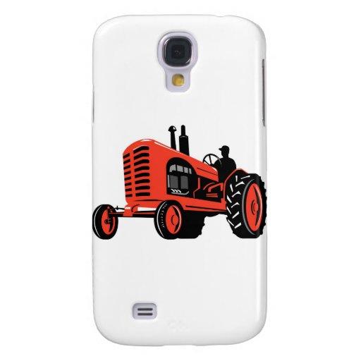 estilo retro del tractor de granja del vintage funda para galaxy s4