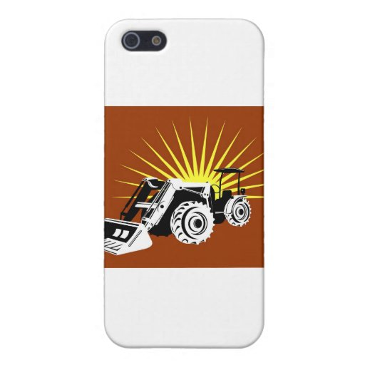 estilo retro del tractor de granja del vintage iPhone 5 carcasas