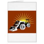 estilo retro del tractor de granja del vintage felicitacion