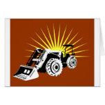 estilo retro del tractor de granja del vintage felicitaciones