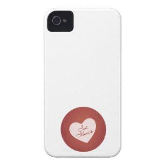 Estilo retro del vintage apenas casado en rojo ant iPhone 4 carcasa