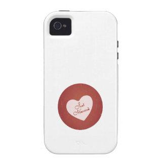 Estilo retro del vintage apenas casado en rojo ant Case-Mate iPhone 4 funda