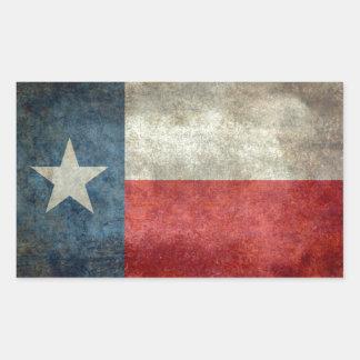 Estilo retro del vintage de la bandera del estado pegatina rectangular