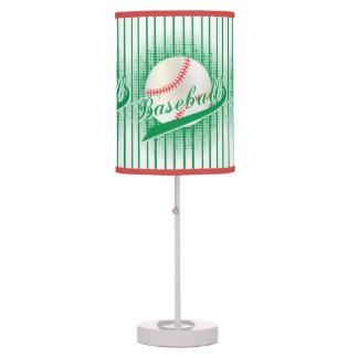 Estilo retro verde del béisbol lámpara de mesa