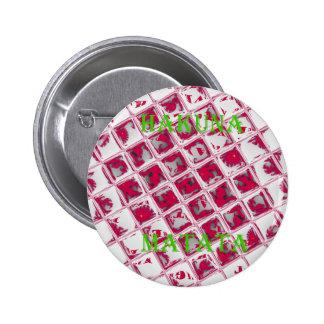 Estilo rojo de Hakuna Matata Pin Redondo 5 Cm