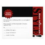 ¡Estilo! Rojo de la tarjeta de contestación de la  Invitacion Personalizada