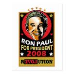 Estilo Ron Paul del vintage Tarjetas Postales