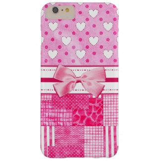 Estilo rosado femenino del libro de recuerdos funda de iPhone 6 plus barely there