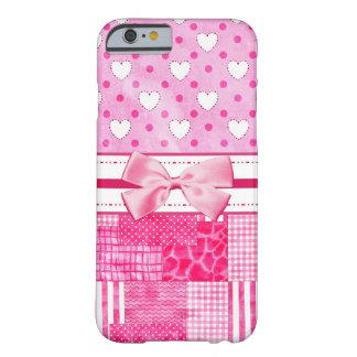 Estilo rosado femenino del libro de recuerdos funda de iPhone 6 barely there
