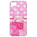 Estilo rosado femenino del libro de recuerdos iPhone 5 Case-Mate protectores