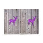 Estilo rústico de los ciervos púrpuras femeninos d iPad mini coberturas
