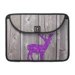 Estilo rústico de los ciervos púrpuras femeninos d fundas macbook pro
