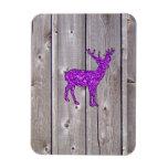 Estilo rústico de los ciervos púrpuras femeninos d iman