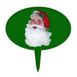 Estilo Santa alegre del vintage Decoración Para Tarta