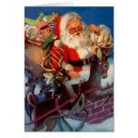Estilo Santa del vintage y tarjeta del día de fies
