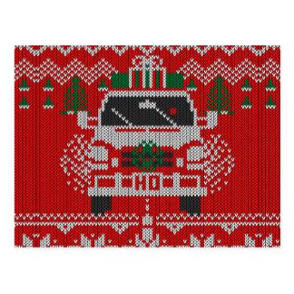 Estilo sospechado rojo del suéter de Holiday Van Postales