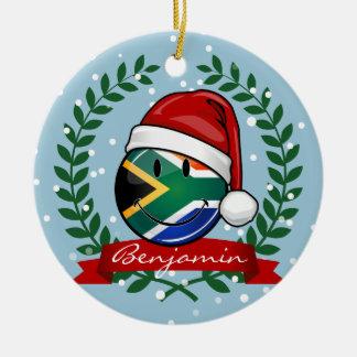 Estilo surafricano sonriente del navidad de la adorno navideño redondo de cerámica