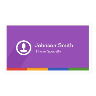 Estilo tipográfico de Smartphone del metro - limpi Tarjetas De Negocios