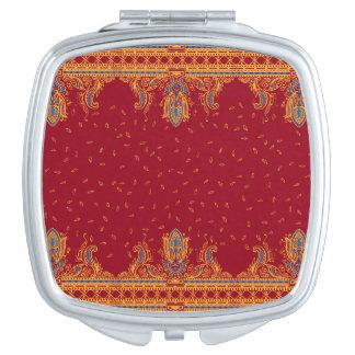 Estilo tradicional de Paisley de la frontera Espejo Compacto