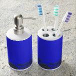 estilo trasero del bosquejo del árbol del azul set de baño