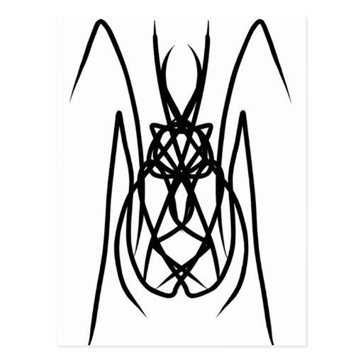 """Estilo tribal de la """"araña"""" del diseño del vector postal"""