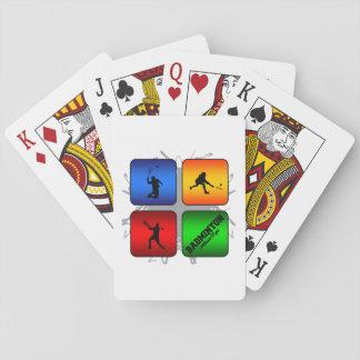 Estilo urbano del bádminton asombroso barajas de cartas