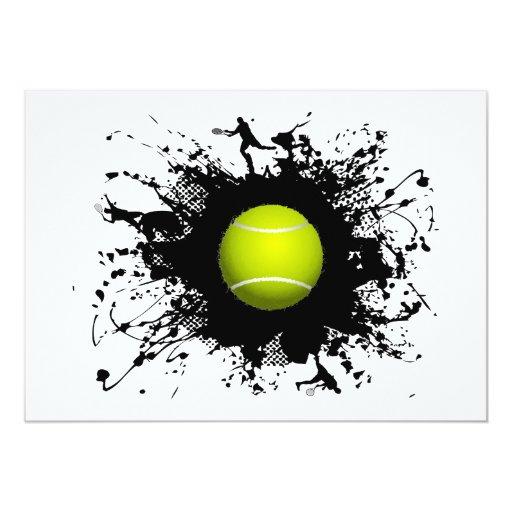 Estilo urbano del tenis invitacion personalizada