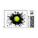 Estilo urbano del tenis timbre postal