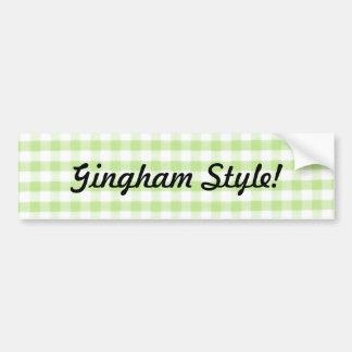 Estilo verde de la guinga - parodia del gangham etiqueta de parachoque