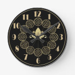 Estilo Wallclock de Gatsby del art déco Reloj Redondo Mediano