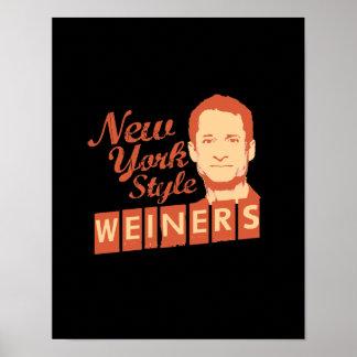 Estilo Weiners de Nueva York Poster