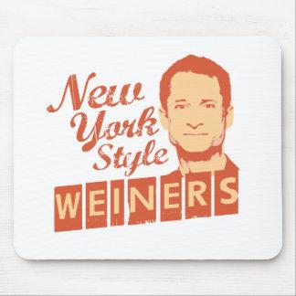 Estilo Weiners de Nueva York Tapete De Ratones