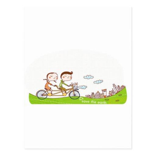 Estilo y feliz tarjetas postales