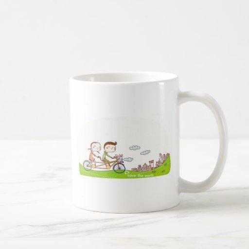 Estilo y feliz taza de café
