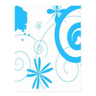 Estilos azules del diseño del círculo de la curva  tarjeta postal