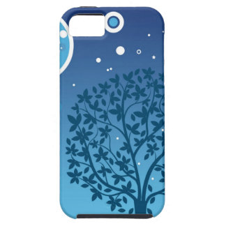 Estilos coloridos del diseño del árbol y del cielo iPhone 5 carcasa