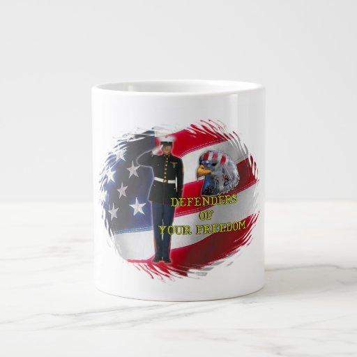 Estilos de la taza de la bandera del soldado (3) taza grande