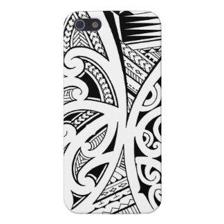 Estilos del tatuaje, maorí mezclados, samoano y po iPhone 5 protectores